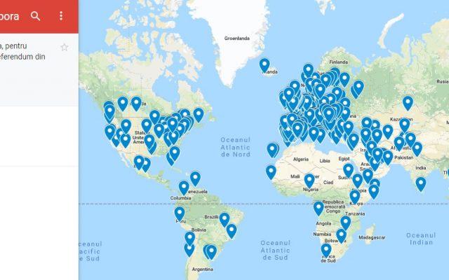 Harta Interactivă A Celor 441 De Secții De Vot Din Străinătate