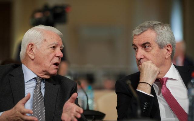 Teodor Meleșcanu și Călin Popescu Tăriceanu. Inquam Photos / George Călin