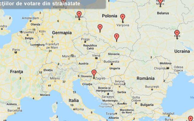 Hartă Interactivă Cele 835 De Secţii De Votare Din Străinătate