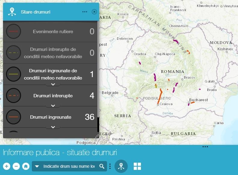 Hărțile Interactive Cu Drumurile și Autostrăzile Cu Risc De