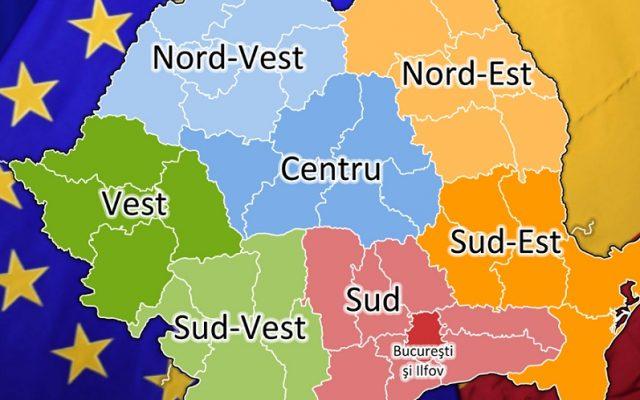 Regionalizarea De Facto Județele Inlocuite Cu Regiuni In