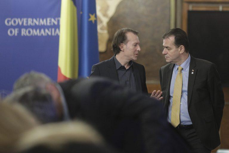 Florin Cîțu și Ludovic Orban. Inquam Photos / Octav Ganea