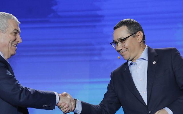 Foto: Călin Popescu Tăriceanu și Victor Ponta (InquamPhotos / George Călin)