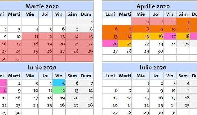 răspândirea calendarului de opțiuni)