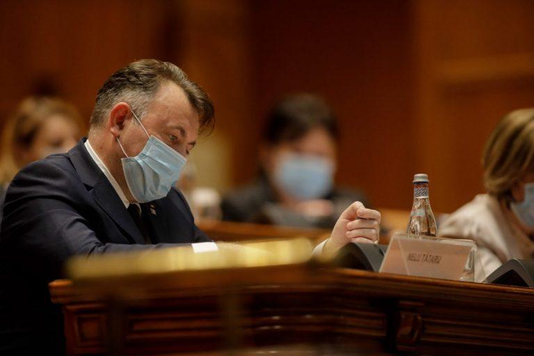 Foto: Ministrul Sănătății, Nelu Tătatru, la dezbaterea moțiunii simple depuse de PSD împotriva sa. Sursa: Inquam Photos / George Călin