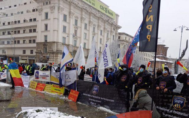 Proteste sindicate București. (Sursa foto: G4Media.ro)