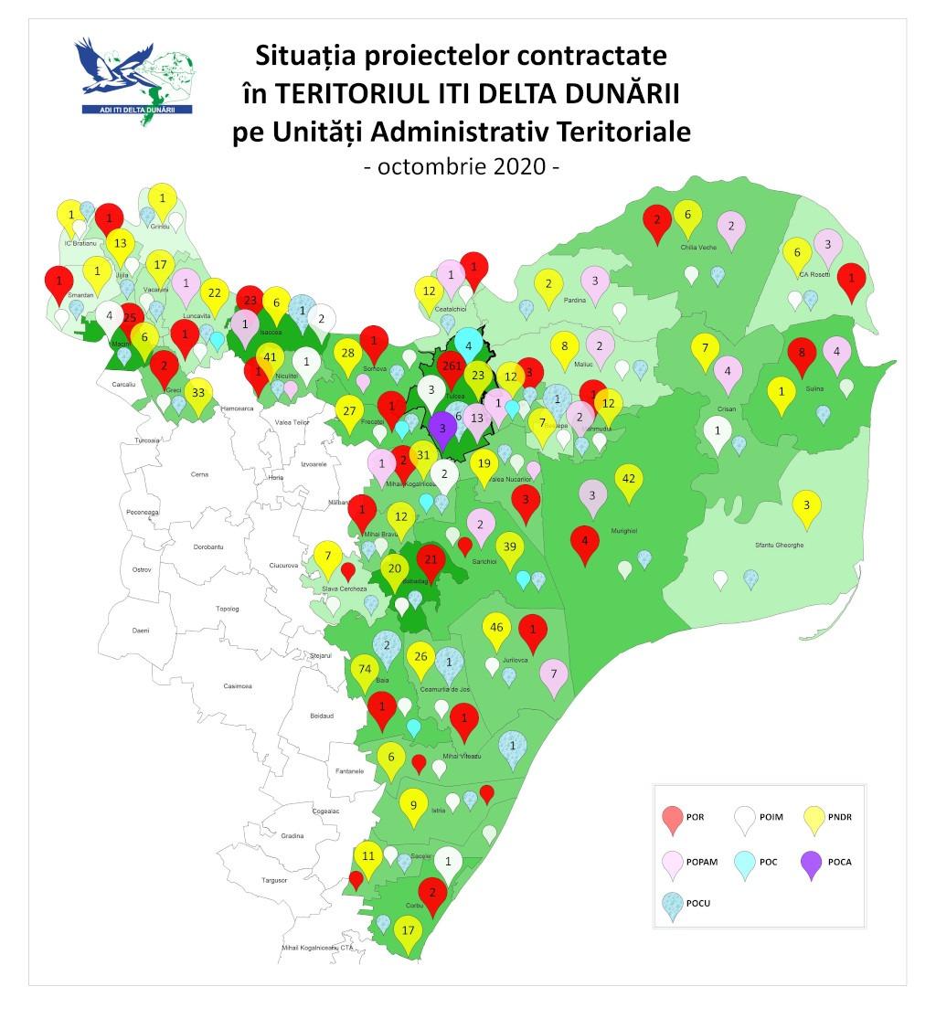 Harta proiecte ITI octombrie 2020