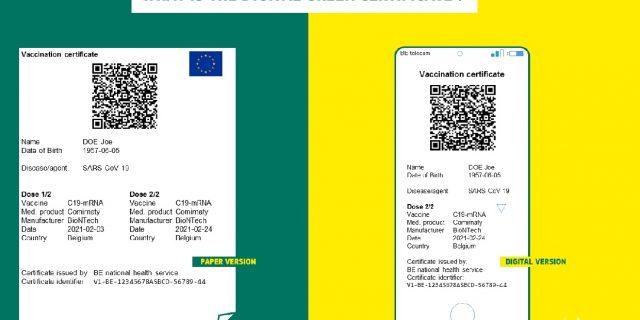 Certificat digital verde 2
