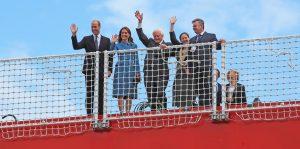 Ducele și ducesa de Cambridge cu Sir David Attenborough