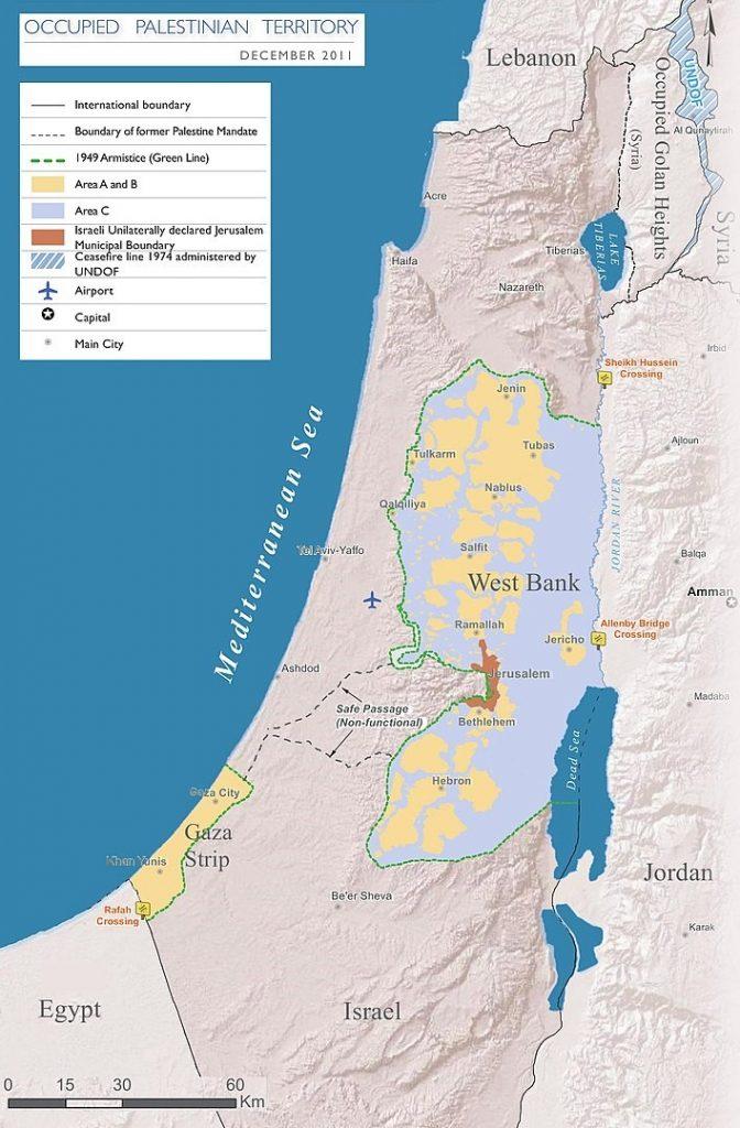 Harta Israel Palestina