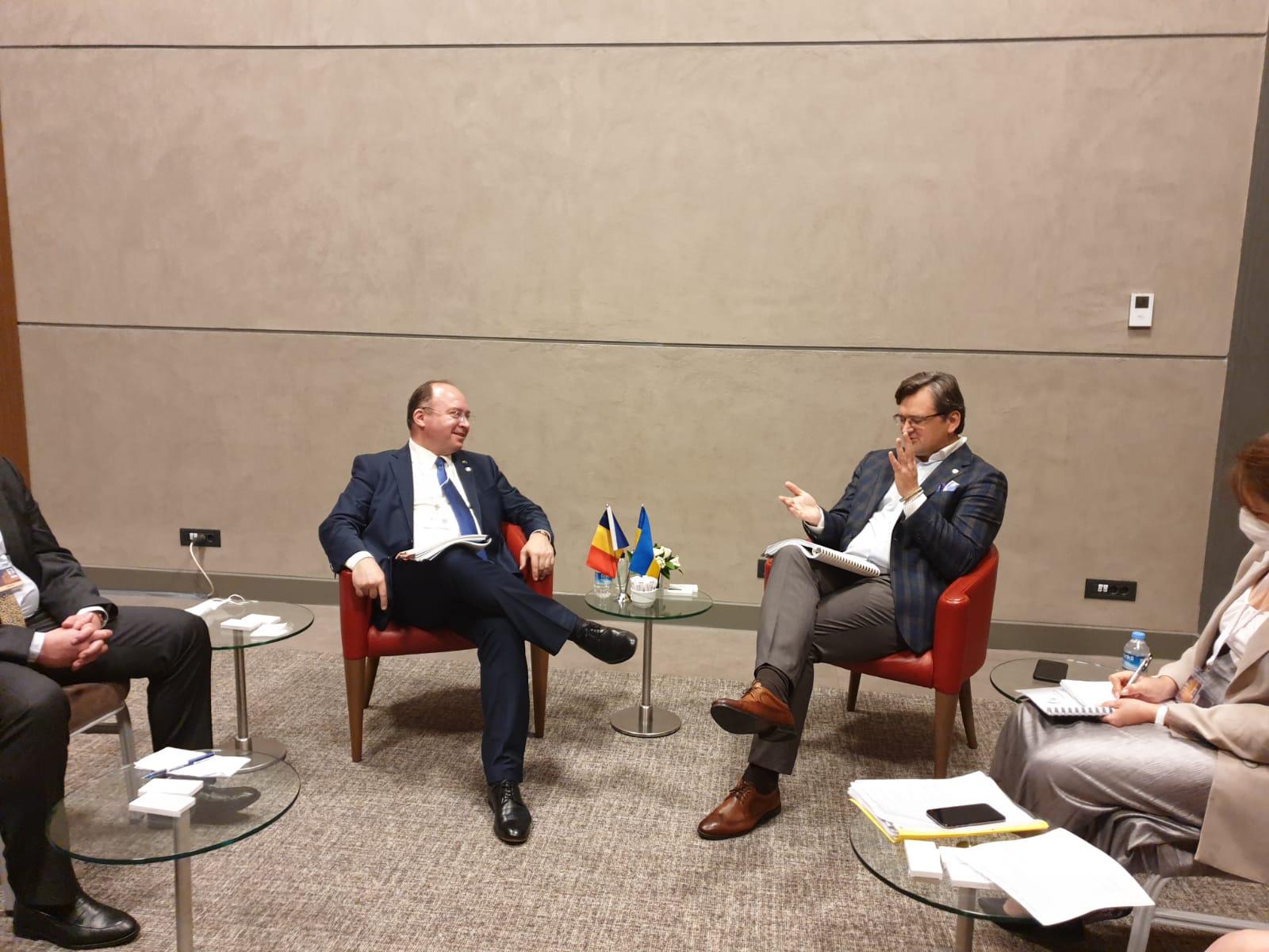 Aurescu s-a întâlnit cu ministrul de Externe ucrainean, printre temele abordate fiind și situația securității la Marea Neagra