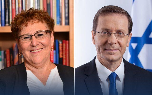 Miriam Peretz și Itzhak Herzog
