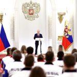 Putin și olimpicii ruși