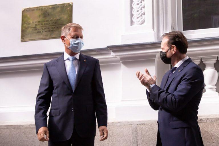 Klaus Iohannis și Florin Cîțu / Foto: gov.ro